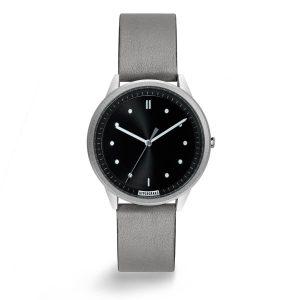 HYPERGRAND - 02基本款系列 - 銀黑錶盤灰皮革