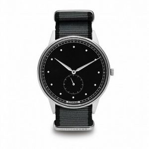 HYPERGRAND - SIGNATURE -  Silver Black Straight Jacquard Grey/小秒針系列 - 銀黑錶盤灰斜紋