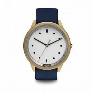 HYPERGRAND - Classic Navy Leather - 金白錶盤藍皮革