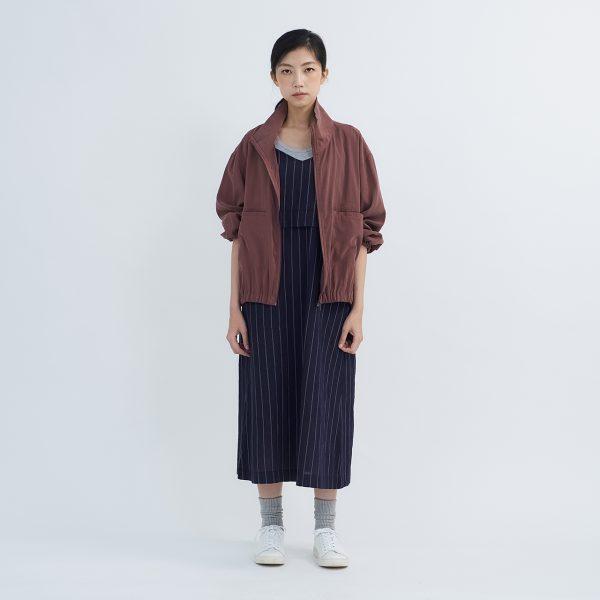 19SS - 細桃絨翻領寬版外套