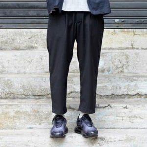 19SS - 錐形打摺九分褲