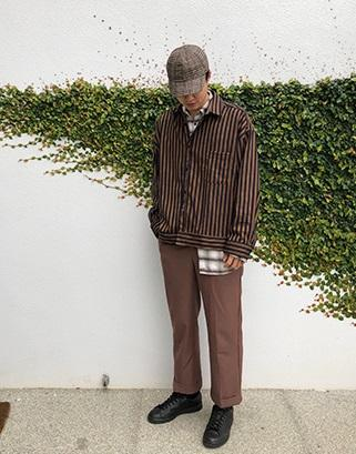 19SS - 條紋襯衫外套