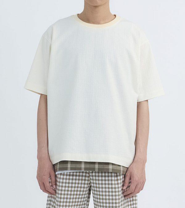 19SS - 棉麻泡泡紗短袖上衣