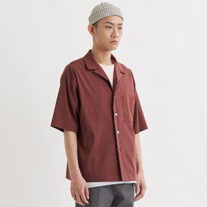 19SS - 天絲混紡開領短袖襯衫
