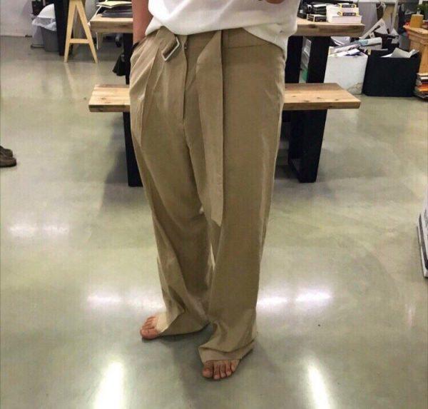 19SS - 棉麻直筒寬褲