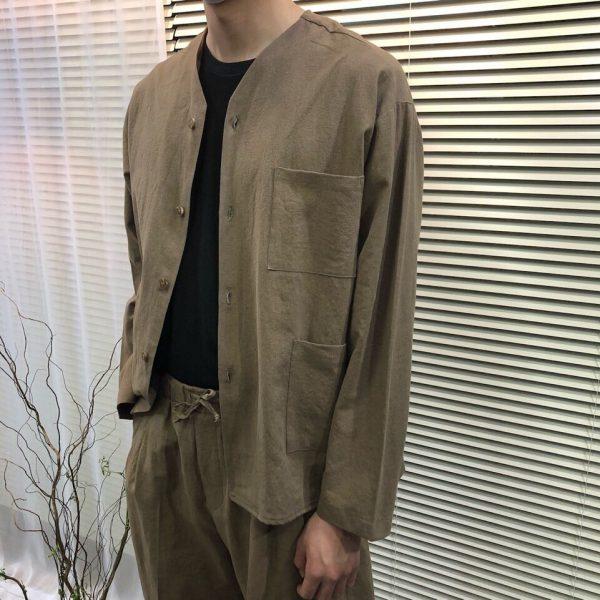 19SS ─ 亞麻V領開襟衫