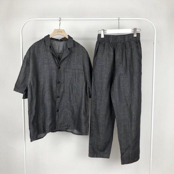 19SS - 伸縮牛仔錐形褲