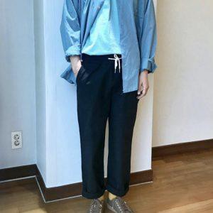 19SS - 鬆緊束繩休閒長褲