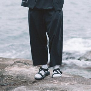 19SS - 吸濕快乾印刷繭型長褲