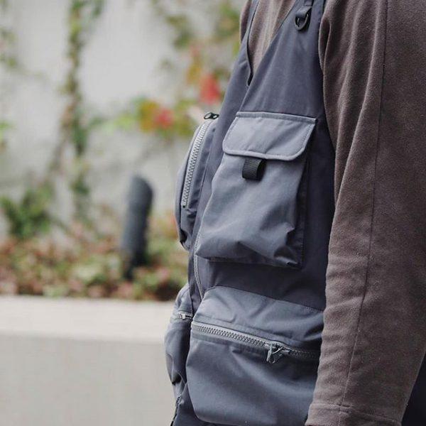 19SS ─ 機能多口袋背心 (深灰)