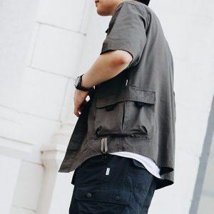 19SS ─ 多口袋工裝襯衫 (深灰)