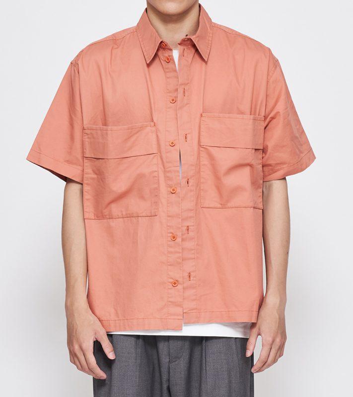 19SS - 水洗棉質口袋短袖襯衫