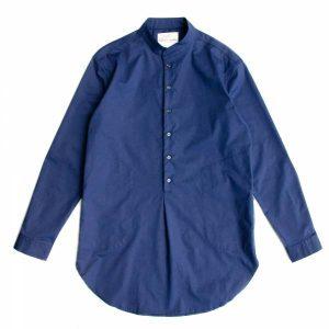 19SS - 小立領PIMA棉長版襯衫