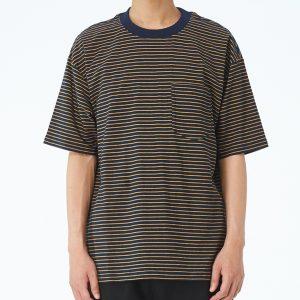 19SS - 條紋棉質寬版TEE