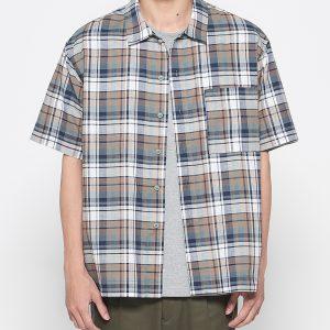 19SS - 輕薄格紋短袖襯衫