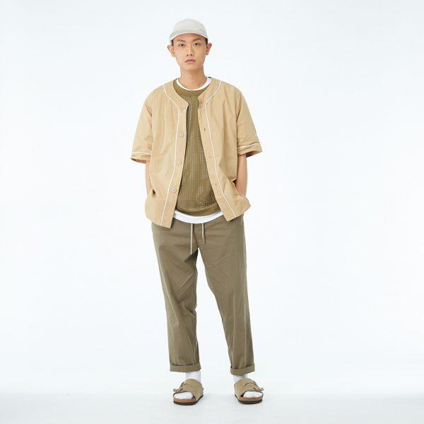 19SS - 記憶紗棒球襯衫
