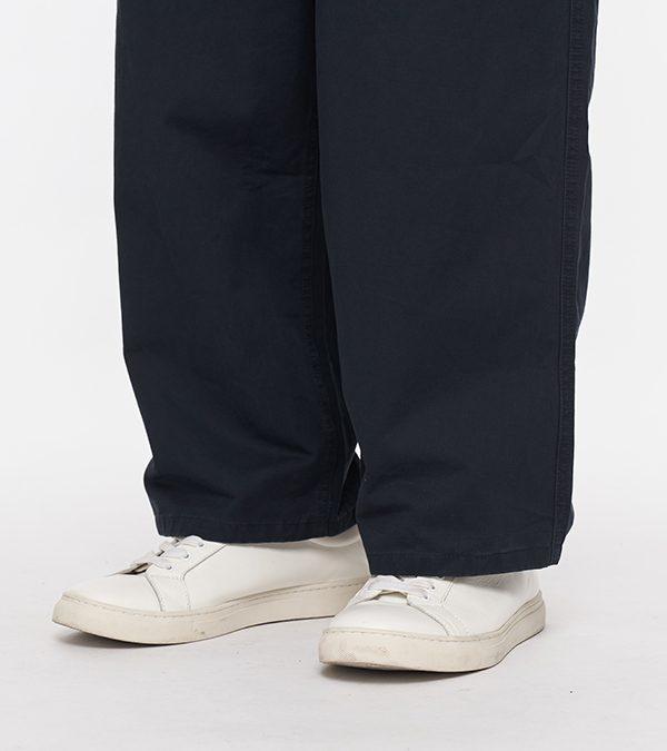 19AW - 水洗棉質抽繩畫家寬褲