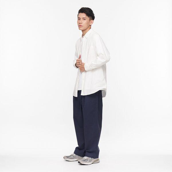 19AW - 棉質抽繩寬褲