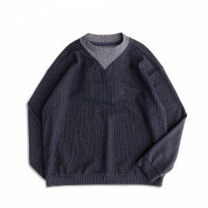 MACHISMO-直條紋羊毛針織上衣