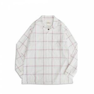 MACHISMO-大格紋雙貼袋古巴領襯衫