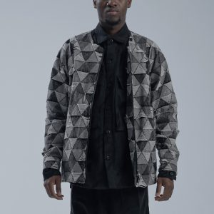 19AW - DYCTEAM - SISYPHUS / Collarless snow wash jacquard coat