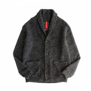 MACHISMO-羊毛翻領針織罩衫