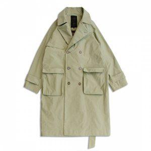 MACHISMO-防潑水抗污雙排釦長版風衣