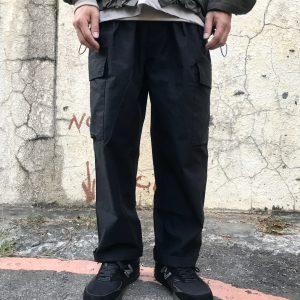 19AW - 棉質混紡軍風寬版長褲