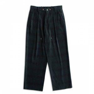 MACHISMO-綠格九分直筒褲
