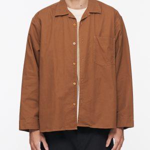 19AW - 棉質開領寬版襯衫