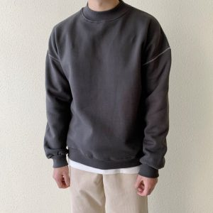 19AW-微高領縫線上衣