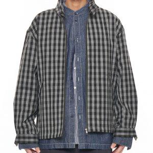 19AW - 格紋哈靈頓外套