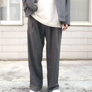 20SS - 可水洗羊毛落地長褲
