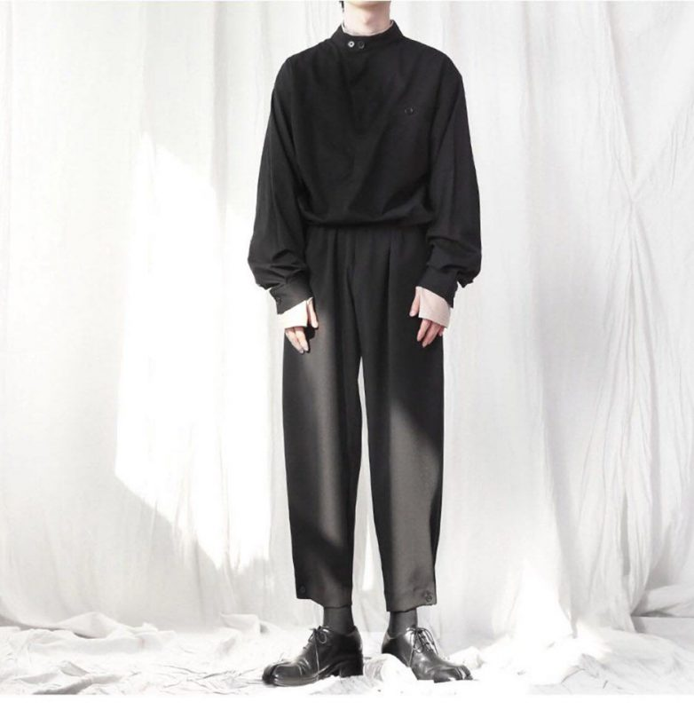 19AW - 立領短版襯衫