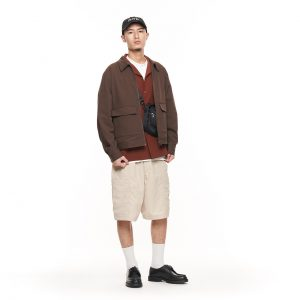 20SS - 西裝料寬版教練外套