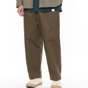 20SS - 彈性棉質抽繩寬褲