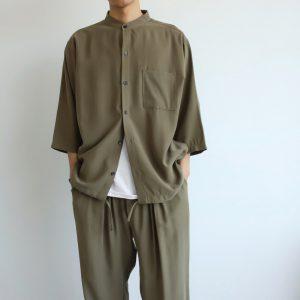 20SS - 七分袖立領襯衫