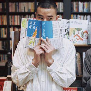 20SS - 棉麻條紋立領長版襯衫