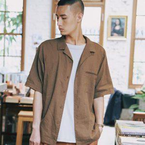 20SS - 棉麻開領短袖襯衫