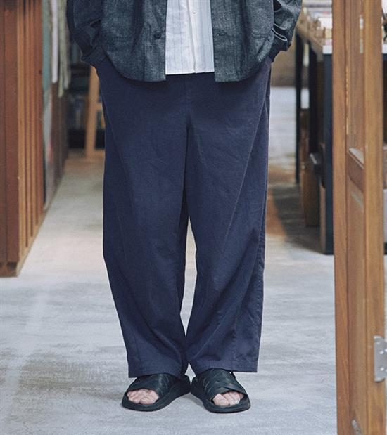 20SS - 棉麻抽繩長褲