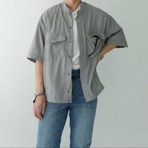 20SS - 亞麻立領短袖襯衫