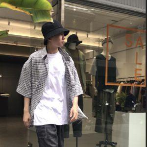 20SS - 泡泡紗小格紋襯衫