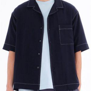 20SS - 垂墜風開領短袖襯衫