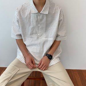 20SS - 短袖格紋套頭襯衫